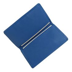 Royce Leather Business Card Case, Adult Unisex, Blue