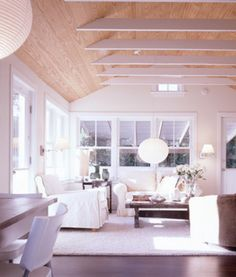 Cwb Architects Amagansett Cottage Love The Wood Ceilings Hannah Estelle White Beam