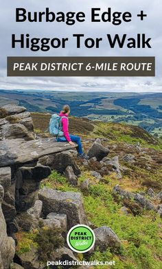 This is a lovely circular walk starting along Upper Burbage Edge and then looping back via Over Owler Tor and Higgor Tor. It's located not far from Hathersage in the Peak District but this walk