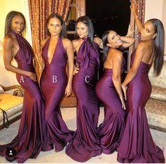 Formal Bridesmaids Dresses, Mermaid Bridesmaid Dresses, Wedding Party Dresses, Wedding Attire, Wedding Bridesmaids, Prom Party, Party Gowns, Burgundy Bridesmaid, Bridesmaid Boxes