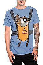 Regular Show Rigby Carrier T-Shirt <3