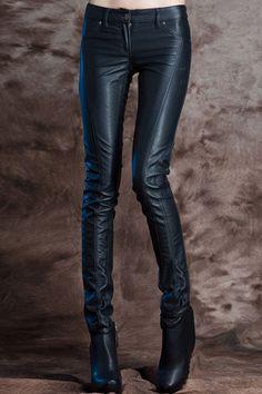 Riveted Slim Black Pants