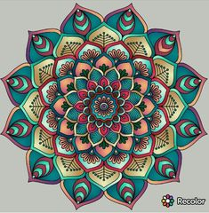 Best tattoo mandala puntillismo 15 Ideas is part of drawings - drawings Mandalas Painting, Mandala Artwork, Mandalas Drawing, Mandala Coloring Pages, Dot Painting, Colorful Mandala Tattoo, Mandala Design, Mandala Sketch, Creation Art