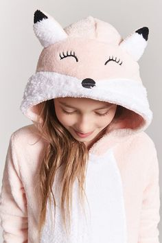 Product Name:Girls Plush Fox Jumpsuit (Kids), Category:CLEARANCE_ZERO, Price:24.9