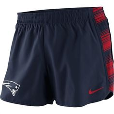 Nike New England Patriots Women's Navy Blue Warpspeed Pacer Performance Shorts