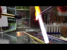 Patti Lakin Smith Lampwork glass leaf headpin demo