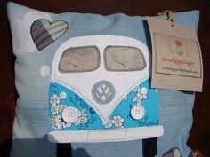 VW Splitty Camper - Picnic Cushion  by CornPoppyCrafts, via Flickr