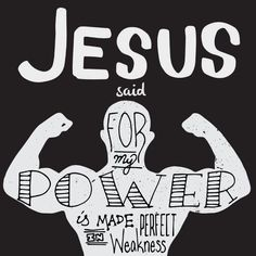 His power  is made perfect in weakness  . . Im so glad that I can rest on that! I can operate in the strength of Jesus Christ (and not my own). Jesus will do the heavy lifting for me if I let Him. . . But he said to me My grace is sufficient for you for my power is made perfect in weakness. Therefore I will boast all the more gladly about my weaknesses so that Christs power may rest on me. - 2 Corinthians 12:9 (NIV). . . The Process:  I started by finding an image that I wanted to use for…