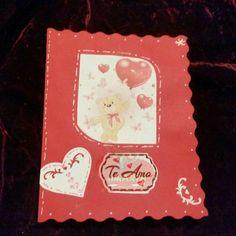 Tarjeta de San Valentin interactiva con espiral de corazón  por dentro.