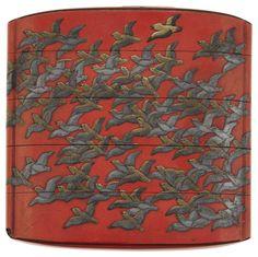 A four case inro signed Koma Kyuhahu Saku, Edo Period