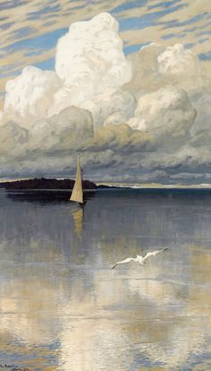 "Vladimir Nikolaevic Fedorovic  Russian Artist 1872-1935 ""calm waters"" 1910"