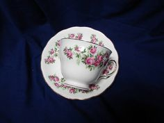 Royal Vale, China Dinnerware England Bone China small pink rose Cup and saucer