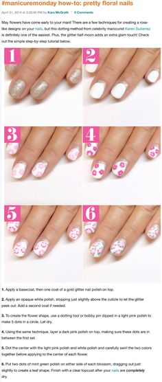 How to floral nails