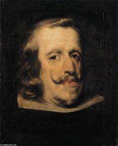 'Porträt von Philip IV (Fragment)', öl auf leinwand von Diego Velazquez (1599-1660, Spain)