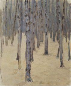 Koloman Moser (March 30, 1868 – October 18, 1918, Austrian )  Pine forest in winter