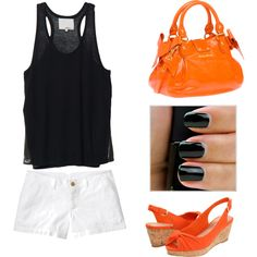 Orange and Black, created by courtn77 on Polyvore