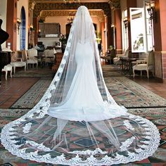CATHEDRAL VEIL 36 Stunning Wedding Veils That Will Leave You Speechless - Cosmopolitan.com