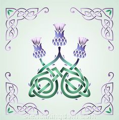 Celtic Three Thistles Stencil Designs from Stencil Kingdom