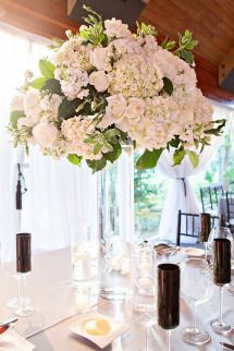 Tall vase floral display