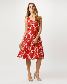 Poppy Burnout Dress