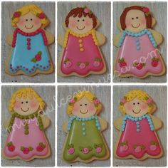 Precious little girl cookies!!! ;0) ~by muydulcevinuesa.com