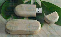 eco wood Oval usb pendrive