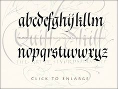 Resultado de imagen de gothicized italic alphabet