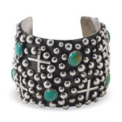Domed Turquoise Cuff