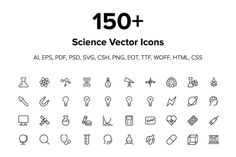 Check out 150+ Science Icons by Creative Stall on Creative Market