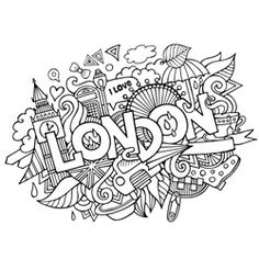 Find London Hand Lettering Doodles Elements Background stock images in HD and millions of other royalty-free stock photos, illustrations and vectors in the Shutterstock collection. Coloring Canvas, Doodle Coloring, Coloring Book Pages, Coloring Sheets, London Illustration, Doodle Art Drawing, Doodles, Thinking Day, Art Plastique