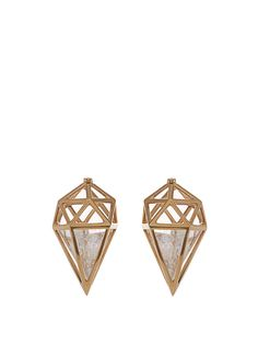Deia Dormeuse quartz & yellow-gold earrings | Noor Fares | MATCHESFASHION.COM UK