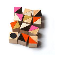 Miami Block Magnet Set