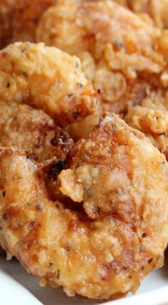 Southern-Fried Shrimp with Homemade Cocktail Sauce - How To Feed A Loon Seafood Appetizers Seafood Appetizers Appetizers Appetizers for a crowd Appetizers parties Shrimp Dishes, Fish Dishes, Seafood Recipes, Cooking Recipes, Fried Shrimp Recipes, Fried Shrimp Batter, Deep Fried Shrimp, Breaded Shrimp, Grilled Shrimp