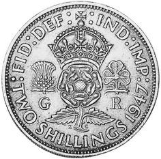 1947 british two shilling coin .A couple a bob!
