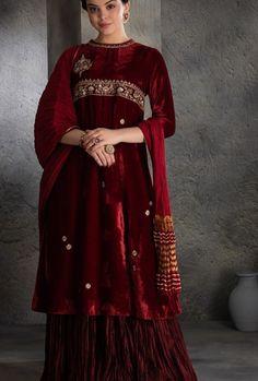 Sharara, Anarkali, Kurtis, Victorian, Velvet, Beautiful, Dresses, Fashion, Vestidos