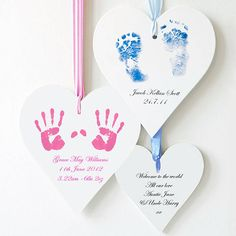 personalised baby hand and footprint heart by picture proud personalised gifts   notonthehighstreet.com