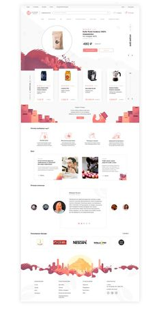 Coffee-shop brand identity and great UI with awesome UX on Behance Template Web, Website Template, Website Design Inspiration, Coffee Shop Branding, Page Web, Ui Web, How To Make Coffee, Startup, Landing Page Design