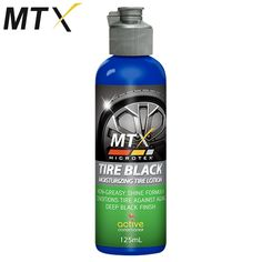 Non-greasy Model: MA-T125 Shine formula Conditions Tire against aging Deep Black Finish 125mL Active Conditioner Moisturizing Tire Anti-dust Prevents Cracking Contains: Silicone fluids, Emulsifiers, Conditioning agent