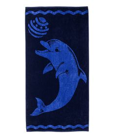 Love this Blue Playing Dolphin Oversized Beach Towel by Home City on #zulily! #zulilyfinds