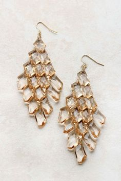 Champagne Blake Chandelier Earrings | Emma Stine Jewelry Set