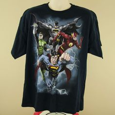 DC Comics Justice League The Coming Storm Short Sleeve T-Shirt Adult Men Blue #JusticeLeage #GraphicTee