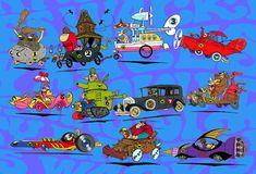 Saturday morning cartoons: The Wacky Races (Hanna-Barbera) Good Cartoons, Classic Cartoons, Blake Edwards, Cartoon Tv, Cartoon Characters, Desenhos Hanna Barbera, Comic Anime, Anime Comics, Saturday Morning Cartoons