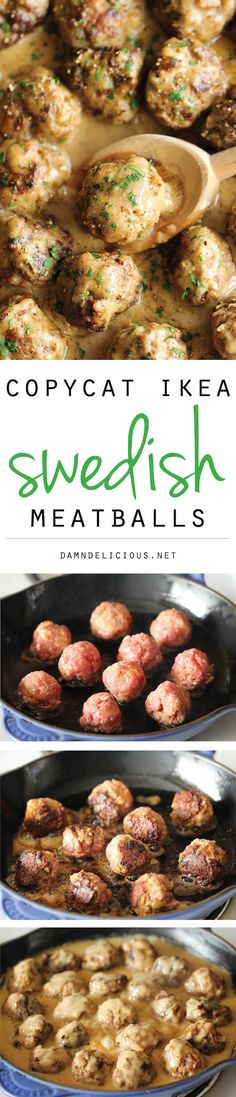 Swedish Meatballs. Marshal loves swedish meatballs! I will definitely be trying these out! Dan- this one's for my wifey! =3