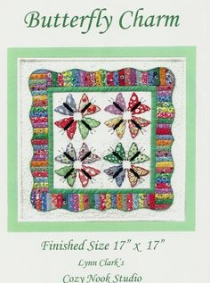 Butterfly charm pattern as seen at Sunbonnet Sue Show 2015