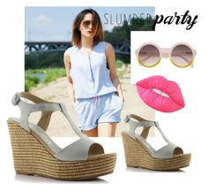 """Playsuit & Wedges"" by missisbossfashion on Polyvore featuring moda i Lime Crime"