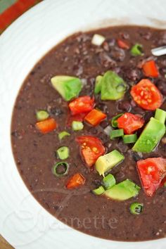 Pressure Cooker Cuban Black Bean Soup Recipe - Jeanette's Healthy Living (with a link for crockpot version)