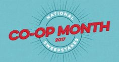 Help us celebrate this national co-operative month with our biggest giveaway ever! Enter now through 10/31/17 11:59pm EST.