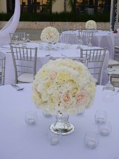 Wedding centerpieces at Cap Cana