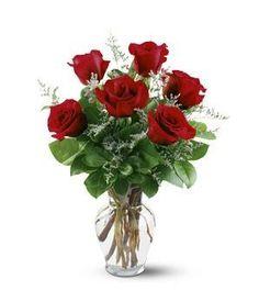 Flowers - 1/2 Dozen Red Roses - http://flowersnhoney.com/flowers-12-dozen-red-roses/