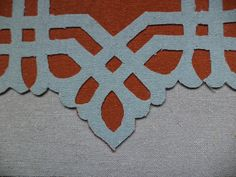 Sample mock up for a quartet of appliqued cotton pillows